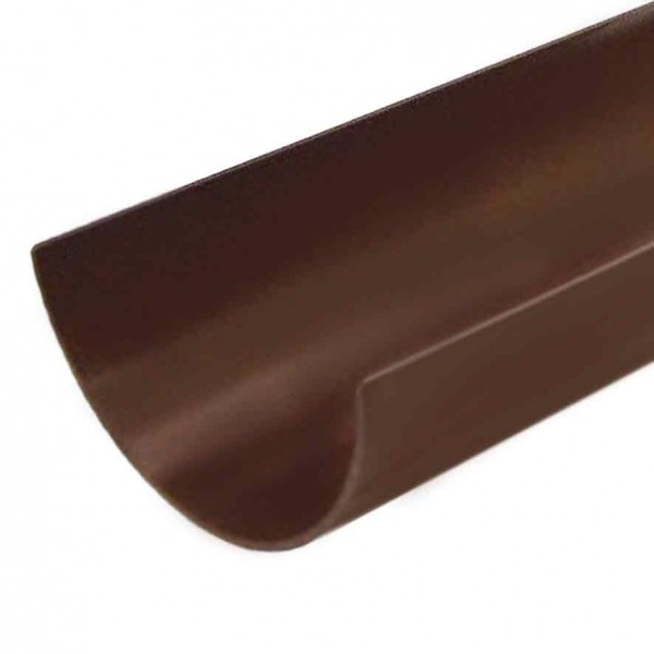 4 metre 112mm Polypipe Brown Gutter Half Round PVC