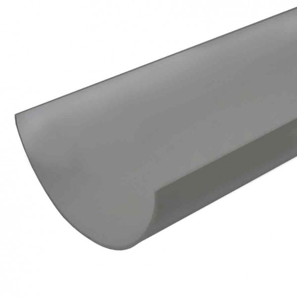 4 metre 112mm Polypipe grey Gutter Half Round PVC