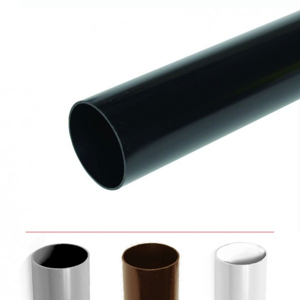 Polypipe 68mm Rainwater Downpipe 4 Metre