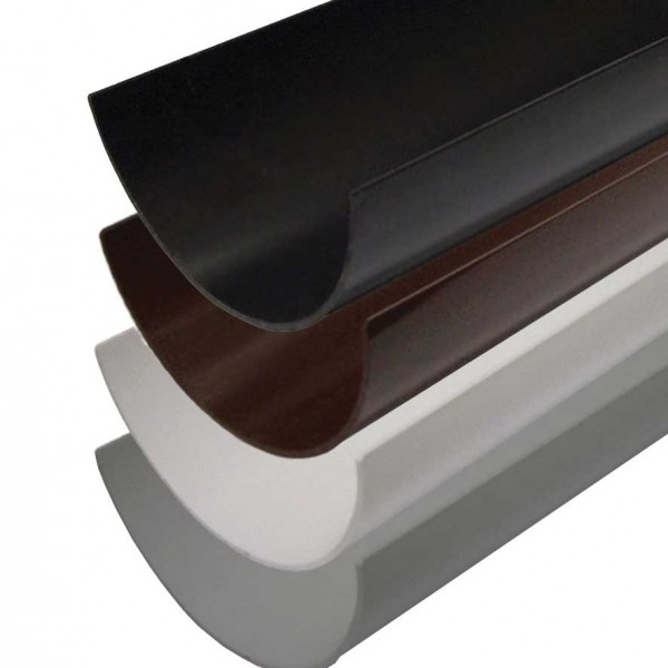 Polypipe PVC 112mm Half Round Gutter 4 metre