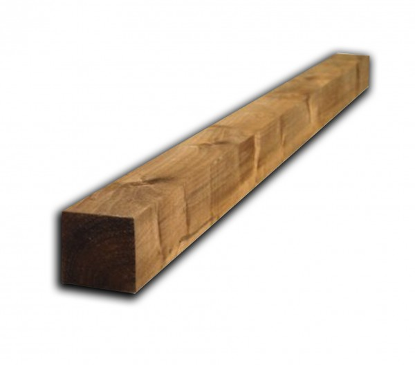Garden fence Panel Post 2.4m x 75mm x 75mm