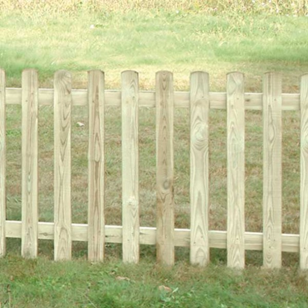 Round Top Picket Fence Panel 1200mm High x 1800mm Wide