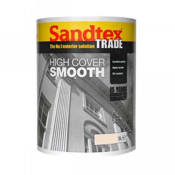 Sandtex High Cover Smooth Magnolia 5 Litre