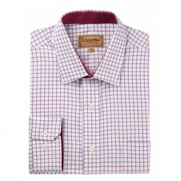 Cambridge Check Shirt Schoffel Raspberry