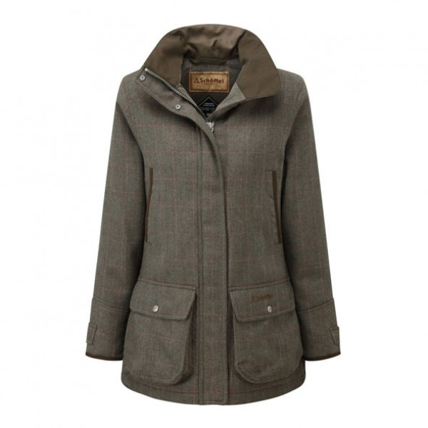 Schoffel Ladies Ptarmigan Cavell Tweed Coat