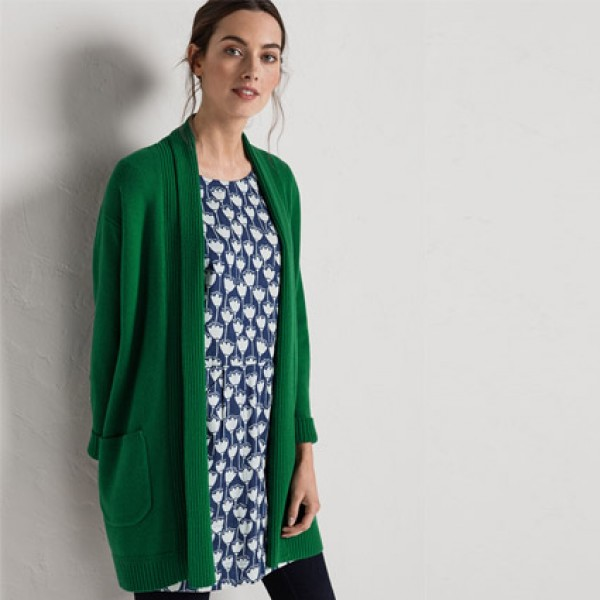 Seasalt Spring Green Studio Life Cardigan