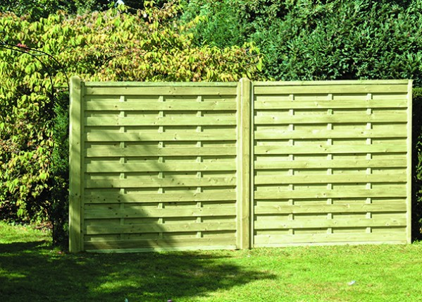GARDEN FENCE PANEL SH180 SQUARE HORIZONTAL