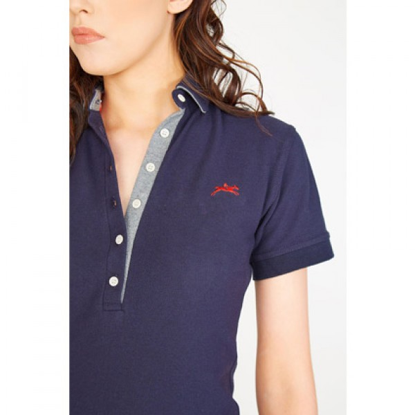 Teddy Edward Heythrop Ladies Navy Polo Shirt