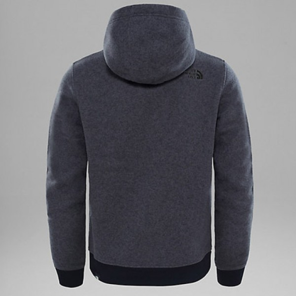 The North Face Dark Grey Heather Mc Simple Dome Hoodie Back