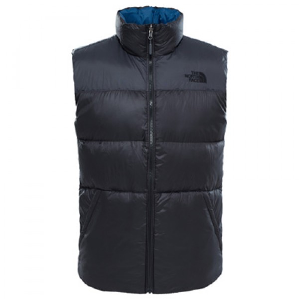 The North Face Asphalt Grey Nuptse III Gilet Vest Front
