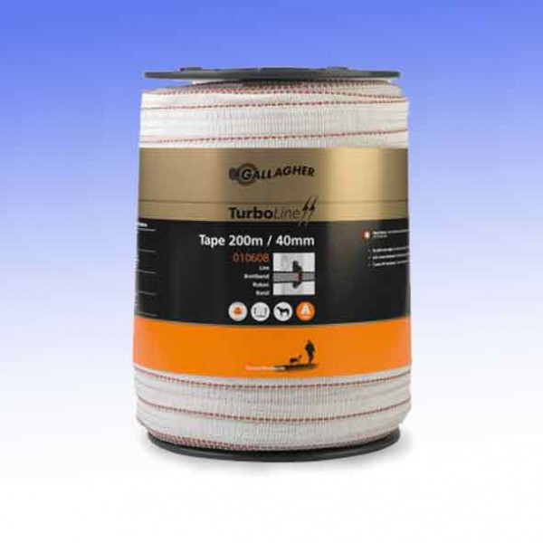Turbostar 40mm Electric Fencing White Tape Gallagher