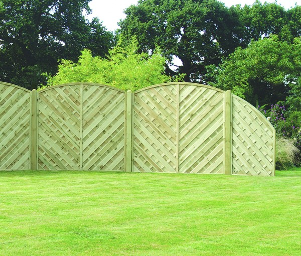 arched  garden fence panel 1800mm x 1800mm va180