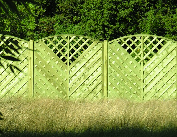 Arched Llattice Fence Panel VAW180