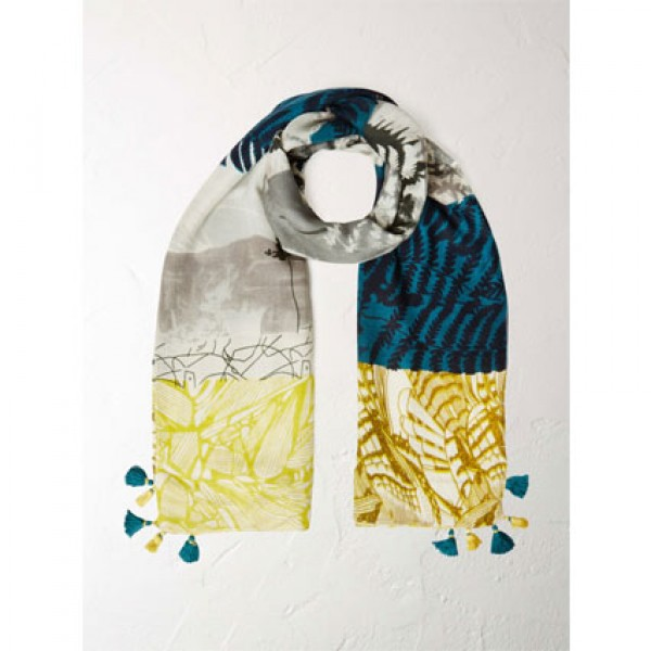 White Stuff Back To Nature Patchwork Scarf