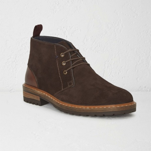 White Stuff Mens Brown Cleated Jon Boots