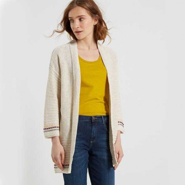 White Stuff Entwined Natural Cardigan