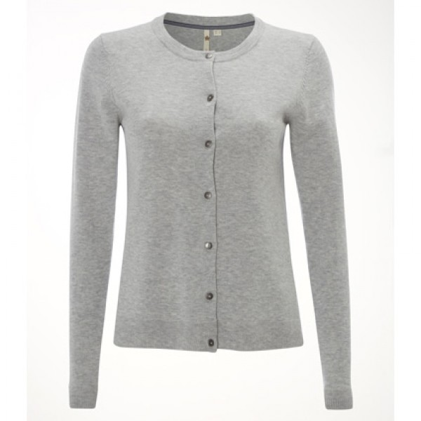 White Stuff Silver Grey Forest Crew Cardigan