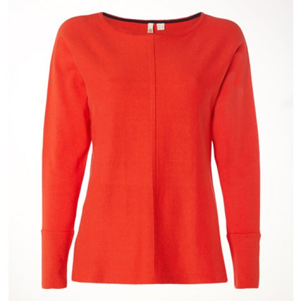White Stuff Fire Red Plain Masterful Jumper | White Stuff Pullover