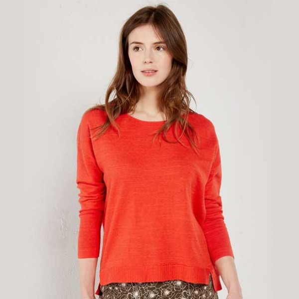 White Stuff Scilla Knit Top Spring Red