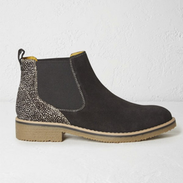 White Stuff Sia Black Chelsea Ankle Boots