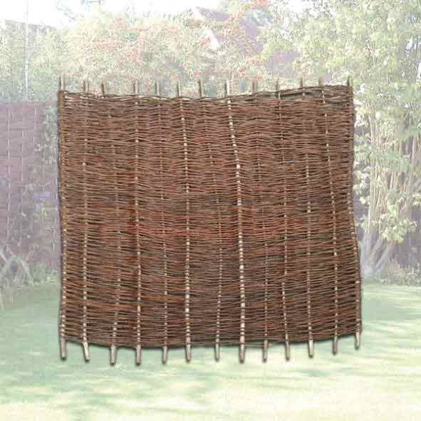 Willow Hurdle Fence Panel 3ft