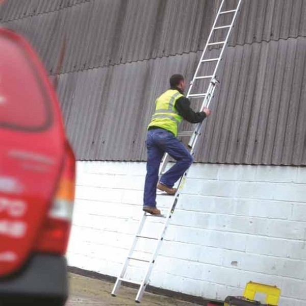 Youngman 200 Trade Extension 2 Part Ladder 2.5m in use