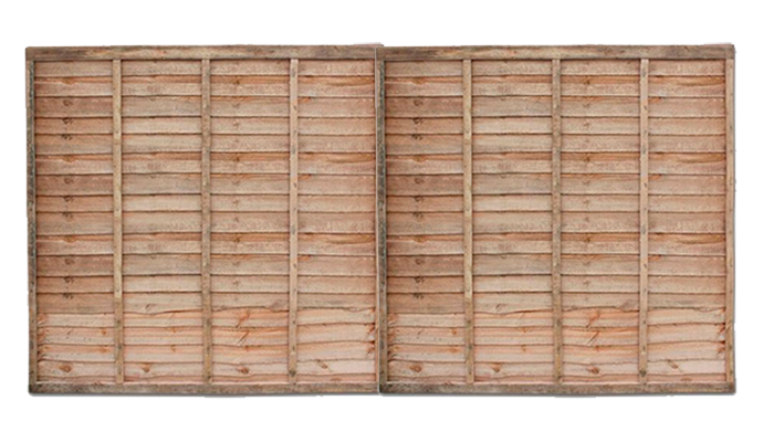 Traditional Overlap Fence Panels