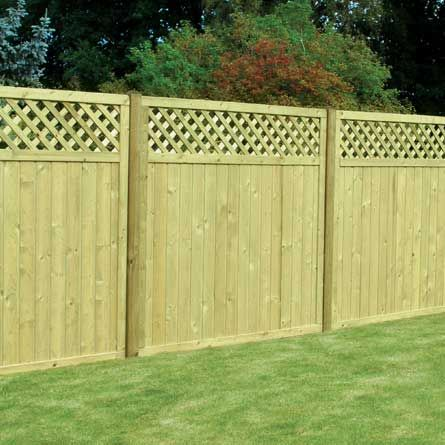 Lattice Top Tongue & Groove Board Fence Panel