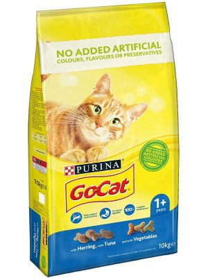 Purina Go Cat Tuna Herring & Vegetables Cat Food - 10kg