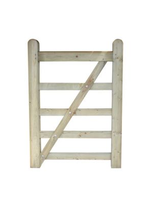 Field Timber Diamond Braced Gate 3FT