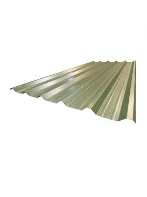 13ft Box Profile Roof Sheet Olive Green PVC Coated