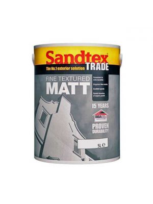 Sandtex Fine Textured Matt Brilliant White 5 Litre