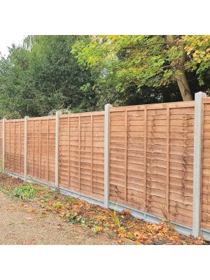 Clarkes Overlap Fence panel 6ft x 6ft