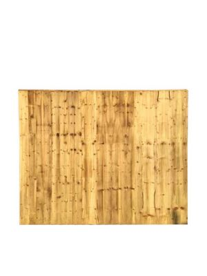 Close boarded Garden Fence Panel Green  4ft x 6ft
