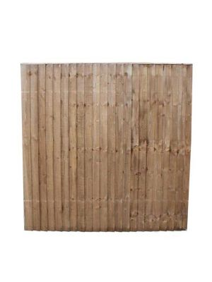 Close Board Garden Fence Panel Brown  5' 6