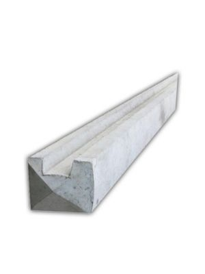 6ft Slotted Concrete End Fence Post
