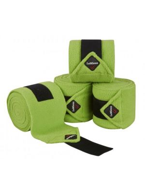 Le Mieux Fleece Polo Bandages | Lime (4 pack)