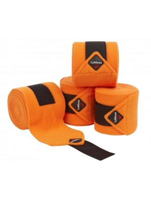 Le Mieux Fleece Polo Bandages | Tangerine (4 pack)