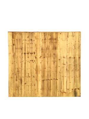 Close boarded Garden Fence Panel Green 5ft x 6ft