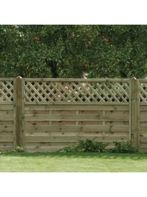 Horizontal Lattice Top Fence Panel 1800mm x 1200mm
