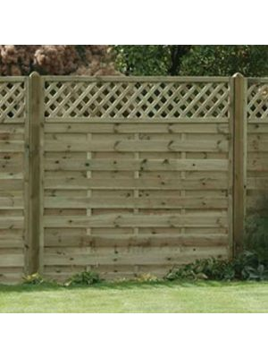 Horizontal Lattice Top Fence Panel 1800mm x 1800mm