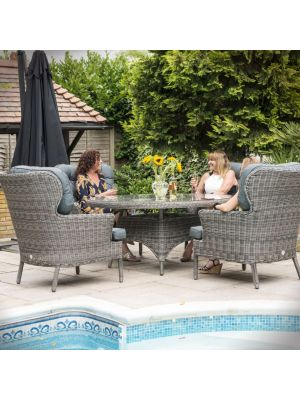Katie Blake Mayberry 6 Seater Dining Set with Parasol