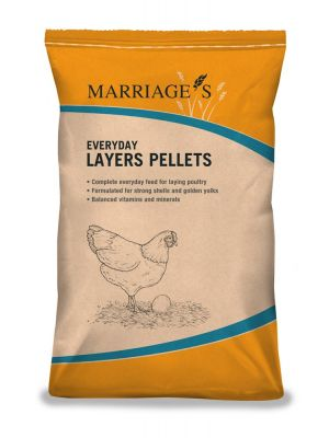 Marriages Everyday Layers Pellets - Chicken Feed - 20kg