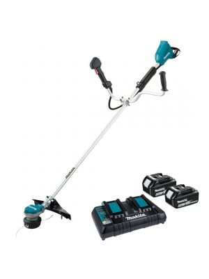 Makita 18V Brush Cutter Set w/ Twin Charger & 2x Batteries