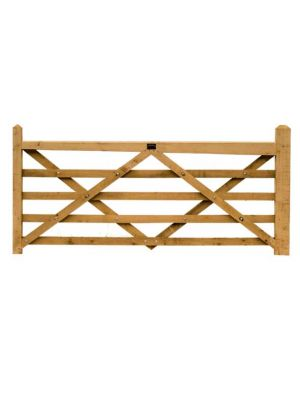 2.4 Metre Diamond Braced Planed Oak Field Gate blank