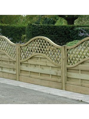 Omega Lattice Top Fence Panel 900mm H X 1800mm W