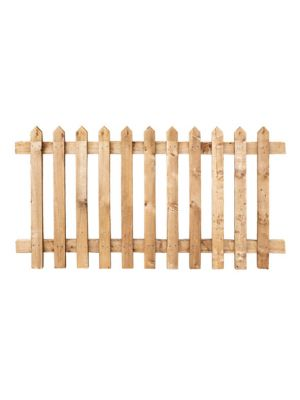 Picket Paled Fence Panel Sawn Softwood Brown  900mm H x 1800mm W