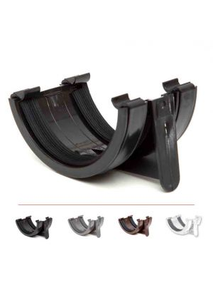 Polypipe 112mm Half Round Gutter Union Bracket black,white,grey,brown