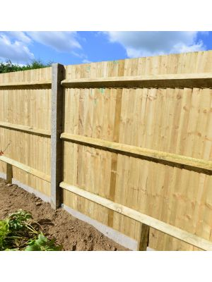 Recessed Concrete Close Boarded Fencing Post 2510mm