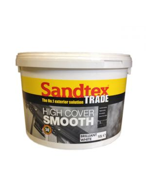 Sandtex High Cover Smooth Brilliant white 10 Litre